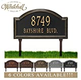 Personalized Cast Metal Address plaque - LAWN MOUNTED Providence Arch Plaque. Display your address...