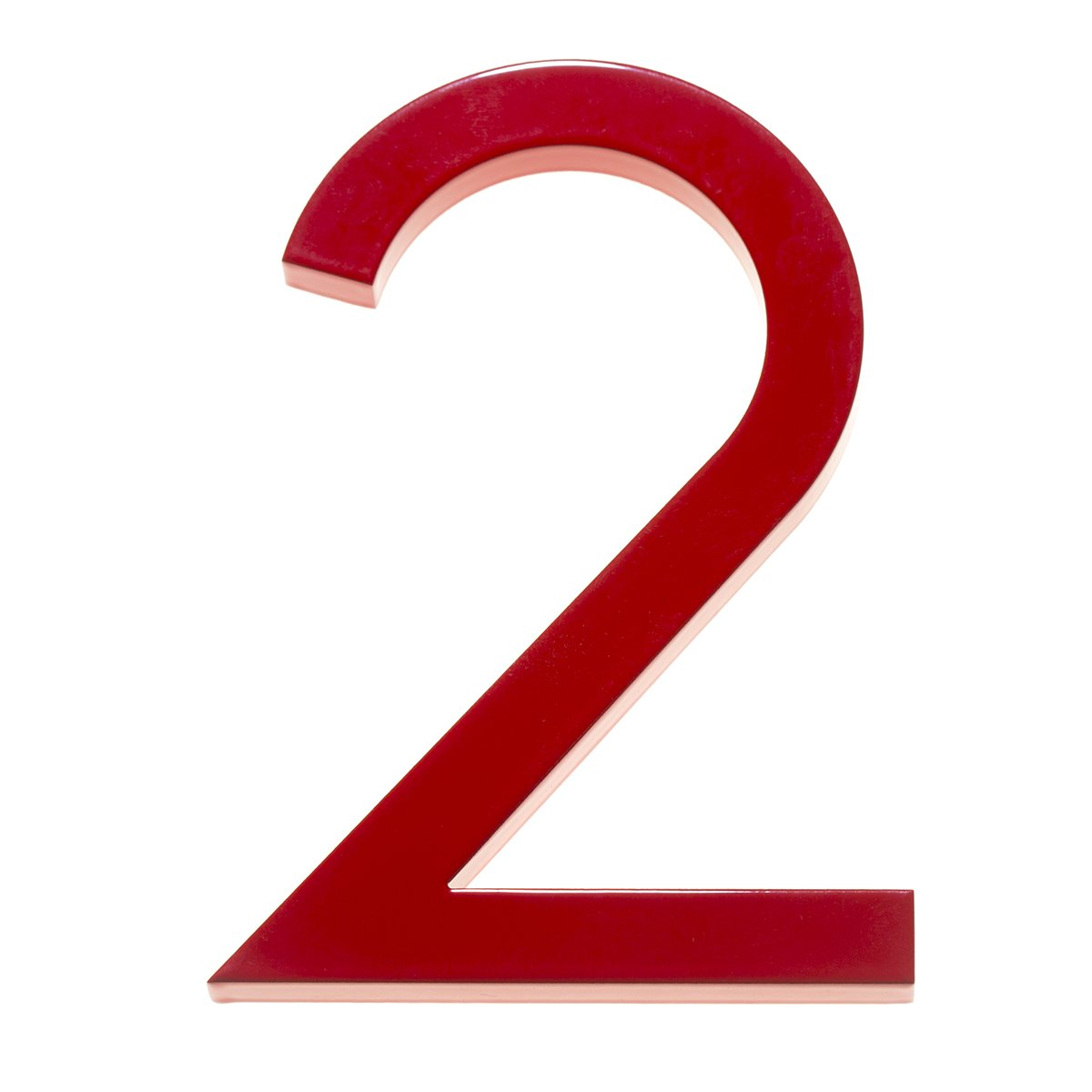 8 Inch Red House Numbers Modern House