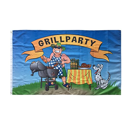 WOWMAR 3x5 FT Flag Summer Fun Decorative Hotdog Picnic BBQ Grill Party Sunshine Holiday Flag Cartoon Cute Dog Vivid Color and Double Stiched 3x5 Foot Flags Polyester with Brass Grommets