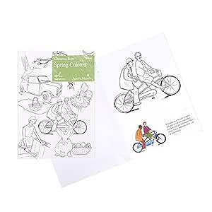 Libro de Colorear Colores de Primavera: Actividades y