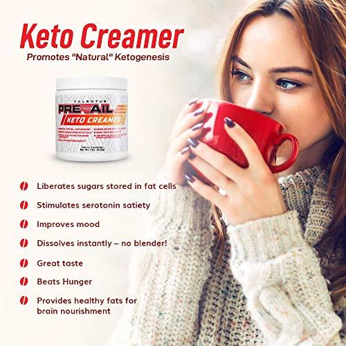 Valentus Prevail Keto Coffee Creamer: Mct Oil Powder 7 Oz | 20 Servings by VALENTUS (Image #2)