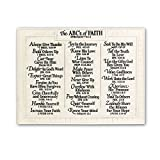 Lighthouse Christian Products Large ABC's of Faith Wall Plaque, 15 3/4 x 12''