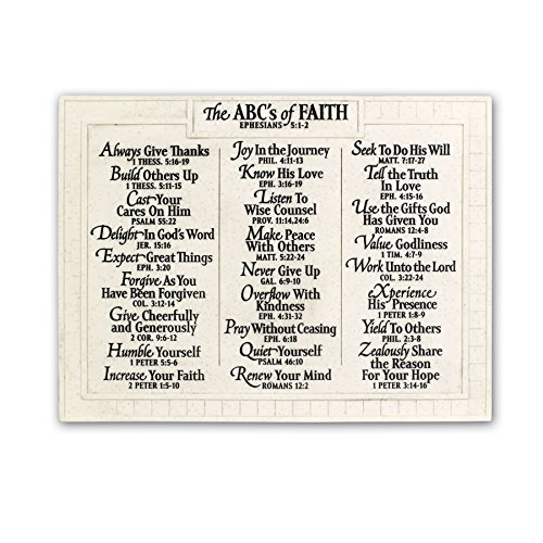 Hanging Plaque Large (Lighthouse Christian Products Large Abc's of Faith Wall Plaque, 15 3/4 x 12)