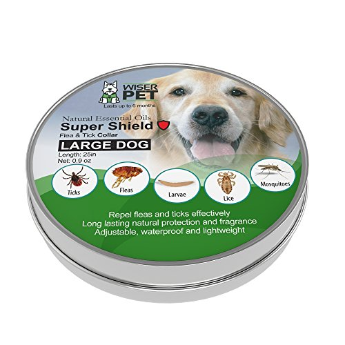 Natural Flea Collar for Dogs | Prevent fleas, ticks, lice and mosquitoes | All Natural Chemical and Toxin Free | Safe for Pets and Family | Long Lasting up to 180 days!