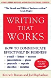 Writing That Works; How to Communicate Effectively