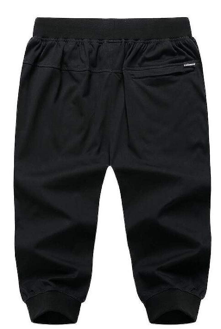 WSPLYSPJY Men Casual Sports Drawstring Loose Fit Running Jogger Short Pant