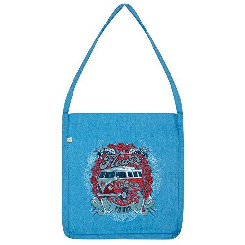Bag Twisted Twisted Envy Tote Camper Blue Power Van Flower Envy w8qaq