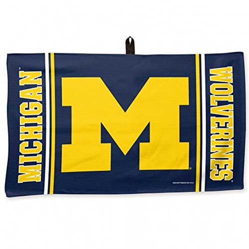WinCraft NCAA University of Michigan Waffle Towel, 14 x 24, Black