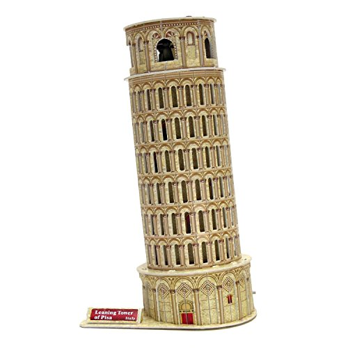 Creative 3D Puzzle Paper Model Leaning Tower of Pisa DIY Fun & Educational Toys World Great Architecture Series, 16 (Tower Model)