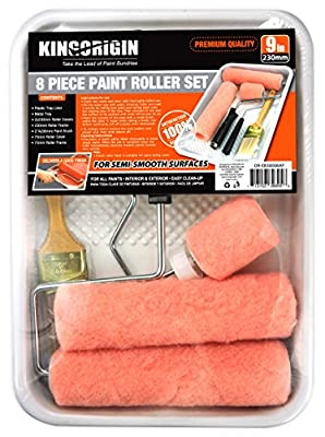 8 Piece Professional paint rollers,paint roller covers, paint brush, paint tray , paint roller frame