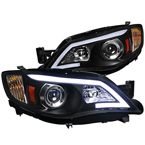 Spec-D Tuning 2LHP-WRX08JM-TM Subaru Impreza WRX Outback Sport LED DRL Projector Headlights Black