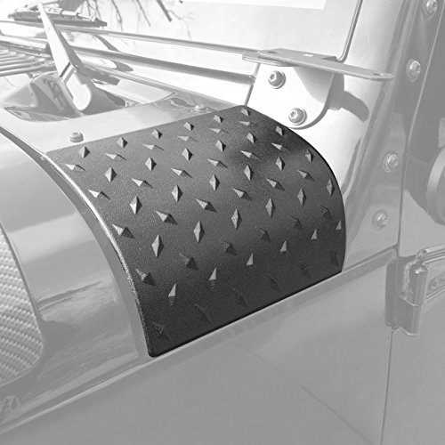Body Armor Hood Guard - Extreme Off-Road Jeep Wrangler Cowl Armor Body Armor Hood Corner Guards Armor Skin Pointer Jeep Wrangler Accessories JK JKU & Unlimited Rubicon Sahara Sports,2007-2018 - ABS