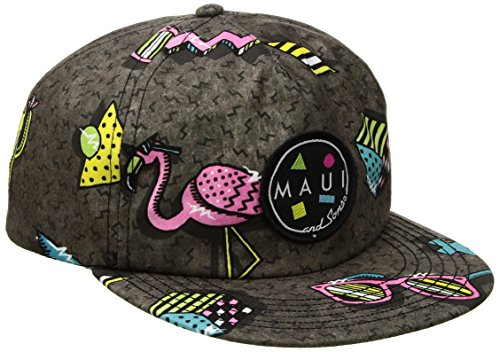 Maui & Sons Men's Flip up Snapback Hat, Savage, One - Front Maui Street
