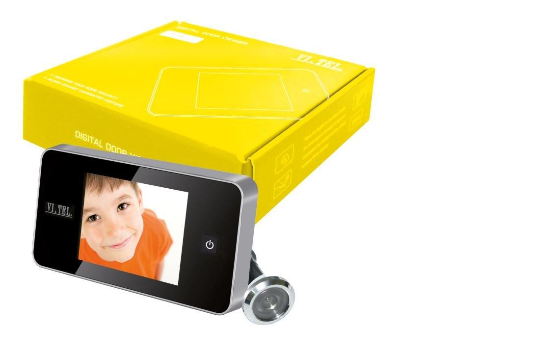 Telese E0426-12 Digital Door Viewer,Silver, Pack of 1