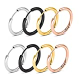 Stainless Steel Small Hoop Huggie Earrings Set Unisex Piercing Jewelry 10MM-20MM