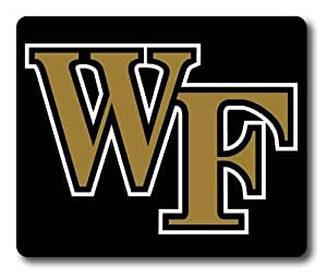 Wake Forest Demon Deacons on Black Rectangle Mouse Pad by eeMuse