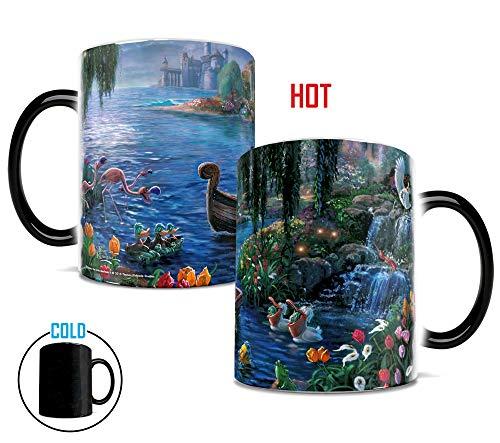 Disney Morphing Mugs Thomas Kinkade The Little Mermaid Kiss the Girl Painting Heat Reveal Ceramic Coffee Mug - 11 Ounces