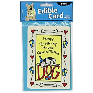 Crunchkins Edible Crunch Card, Birthday Spoiled Rotten Dog