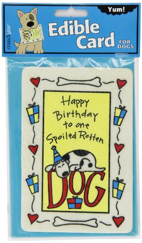 Crunchkins Edible Crunch Card, Birthday Spoiled Rotten Dog