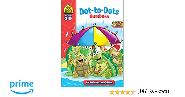 Dot-to-Dot Numbers Activity Zone (Ages 3-5): School Zone Staff ...