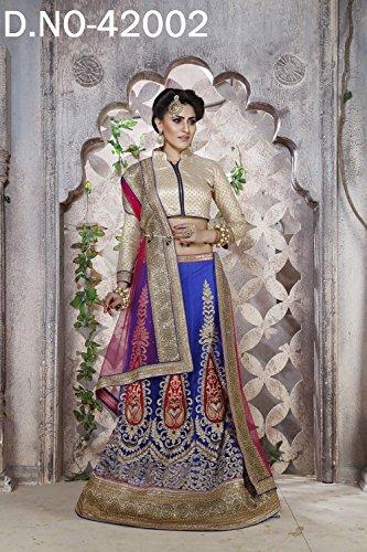 PCC Indian Women Designer Wedding blue Lehenga Choli K-4574-40122
