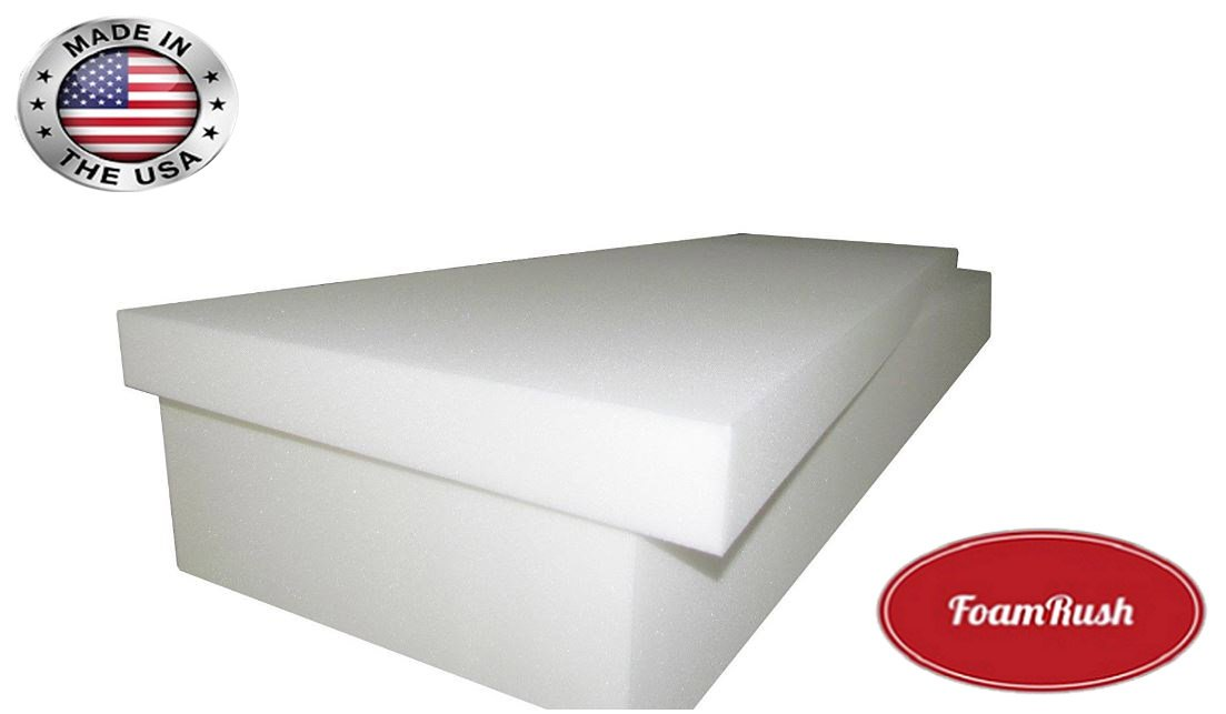 FoamRush 5' H x 24' W x 32' L Premium Quality Upholstery Cushion High Density, Seat Replacement, Sheet Padding Made in USA