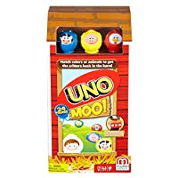Deals on Mattel Games Uno Moo Card Game
