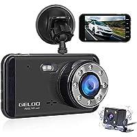 GELOO 4.0 inch Dual Lens Car Dash Cam Full HD 1080P...