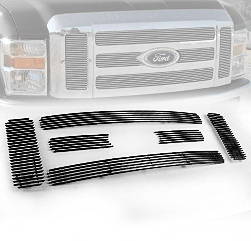 ZMAUTOPARTS Ford F250 F350 F450 F550 Super Duty Front Upper Billet Grille 6Pcs Set