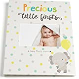 Baby Memory Book for First Year to Five, Record Each Milestone from Your Child in a Keepsake Journal, For Boys and Girls, Modern Photo Album and Baby Shower Guestbook, 9 Inch x 11.5 Inch Cover