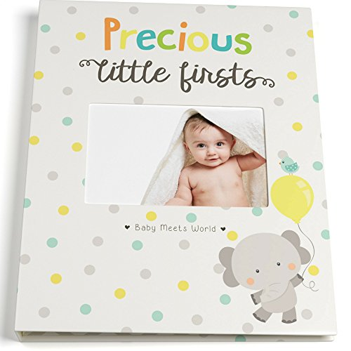 Precious Album (Baby Memory Book for First Year to Five, Record Each Milestone from Your Child in a Keepsake Journal, For Boys and Girls, Modern Photo Album and Baby Shower Guestbook, 9 Inch x 11.5 Inch Cover)