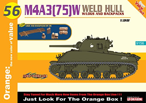 Cyber Hobby 1/35 M4A3(75) W Welded Hull Orange Model Kit