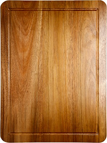 Somarian Double Sided Acacia Wood Cutting Board with Groove, 3/4 Inch Thick - 15¾-Inch-by-11¾'' -Inch - Large