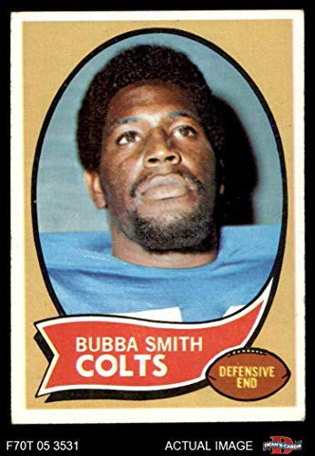 1970 Topps Football 114 Bubba Smith ROOKIE Baltimore Colts Excellent