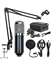 Mainstayae BM800 Professional Suspension Microphone Mobile Phone Broadcasting Recording Condenser Microphone Set with 48V Power Supply Appliance