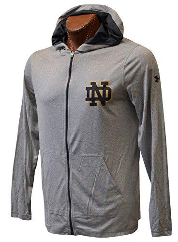 NCAA Notre Dame Fighting Irish Under Armour Apparel (XXL, Twist Tech Gray Hoody)