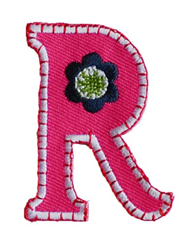 Amazon Com Trickyboo Iron On Letter Patch Craft Applique R Pink 5cm