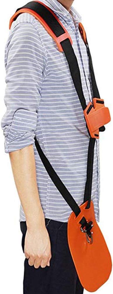 desbrozadoras Herramientas de jard/ín Sarplle Correa de Hombro Doble Correa de Transporte Accesorio de podadora de Hierba de Nylon para recortadoras Sierras el/éctricas Naranja