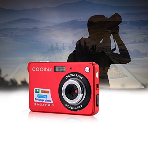 Digital Camera,Hosamtel 18 Mega Pixels 3.0MP CMOS sensor 2.7 inch TFT LCD Screen HD 720P 8X digital zoom Digital Camera