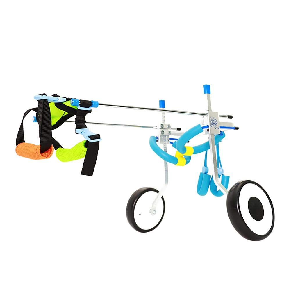 XS Adjustable Pet Dog Wheelchair (2 Wheels) Dog Cart Wheels Dog Walking Scooter Disabled Dog Assisted Hind Leg Rehabilitation