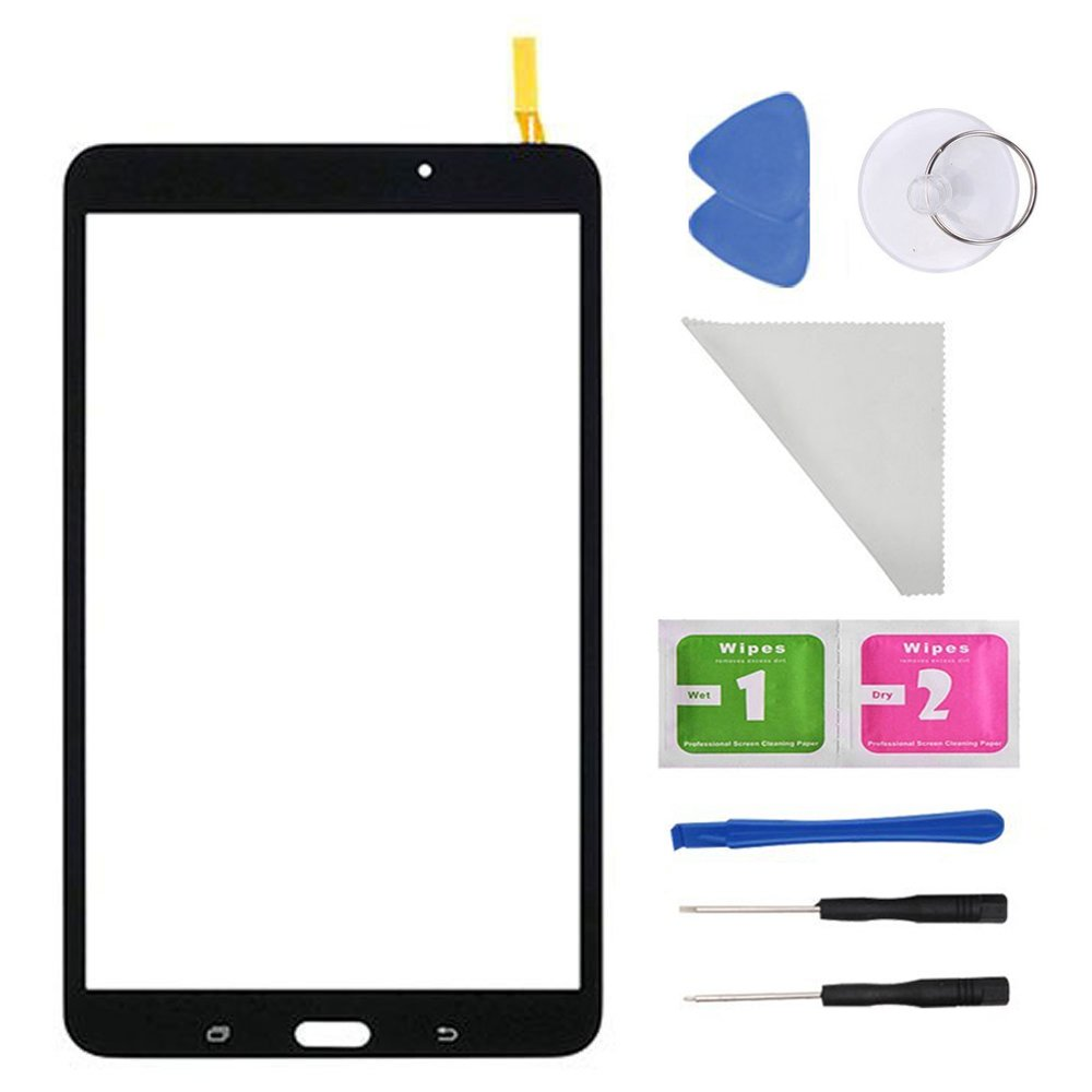 Black Digitizer Touch Screen for Samsung Galaxy Tab 4 8.0 T330 T331 T332 T335 T337A T337T T337V (No Earpiece Hole) Wifi Version With Tools