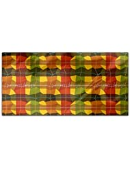 Almost Checkered Rectangle Tablecloth Large Dining Room Kitchen Woven Polyester Custom Print