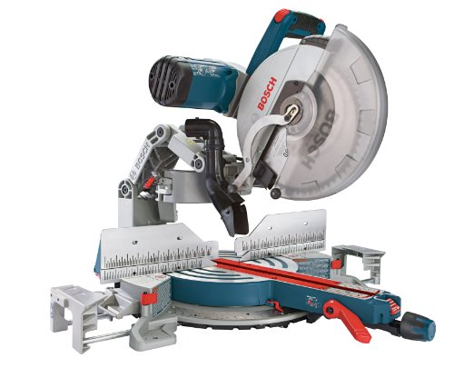 Bosch Compound Miter Saw GCM12SD - 120-Volt, 12-Inch Dual Bevel Glide Miter Saw - Use Chop Saw with Woodworking Tools and Accessories - Radial Arm Saw For Trim Carpentry, Carpenter, Fine Wood Worker