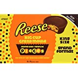 REESE Pieces Peanut Butter Cup, Christmas Chocolate Candy, King Size, 16 Count