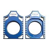 Tusk Racing Axle Block Blue -Fits: Yamaha WR250R 2008-2015