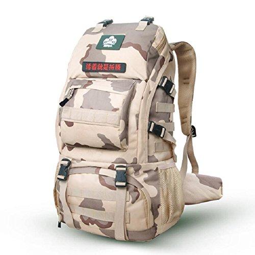 LJ&L High-end al aire libre mochila alpinismo, multi-propósito de excursiones mochila camping impermeable, ajustable, los hombres y las mujeres en general la mochila de moda,A,36-55L D