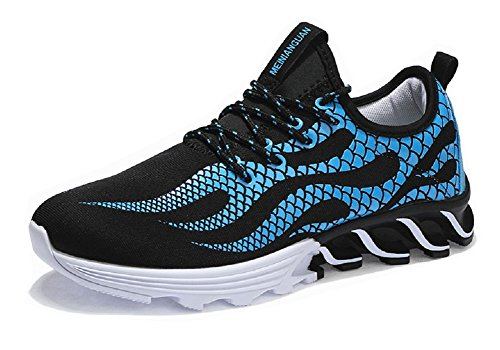 Black Shoes Men's Lace Sneakers Running Blue up Outdoors Fashion JiYe 8a1qq