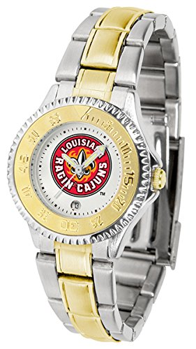 Louisiana Lafayette Ragin' Cajuns Competitor Two-Tone Women's - Ladies Sport Cajuns Steel Watch