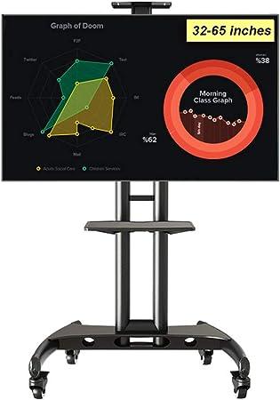YUIOLIL Oficinas Hoteles Televisores LCD LED de 32-65 Pulgadas Soporte móvil Universal Estante de exhibición de TV Ajustable en Altura: Amazon.es: Hogar