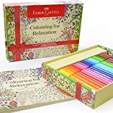 Faber Castell Coloring for Relaxation Gift Set - 60 Connector Markers & Coloring